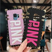 Best Embroidery 3D Pink Letter Soft TPU Phone Case For Samsu...