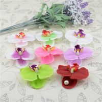 100pcs Wholesale Silk Butterfly Orchid Artificial Flower Hea...