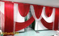 6 m di larghezza swag di sfondo valance wedding stylist swags Party Curtain Celebration Stage stylist Background disegni e tende