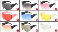 9 Colors Sunglasses SHIELD Style Large Oversized Frame Mirro...