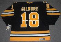 Maillot Hommes HAPPY GILMORE Boston Bruins CCM Vintage Noir Maillot Rétro  Pas Cher d6c6c396d