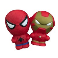 kawaii Squishy Jumbo 11. 5cm Iron man Spider man Super hero S...