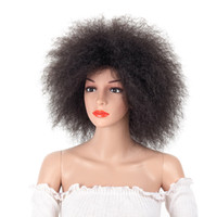 Synthetic Afro Wig for Women African Dark Black Color Yaki S...