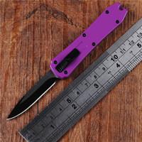 coltelli automatici supur mini coltello coltelli auto di alta qualità 5 colori senza coltello mic logo mini chiave fibbia tasca coltello manico in alluminio