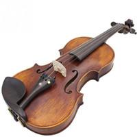 Großhandel Professionelle 4/4 Ahornholz Violine Set mit Tragetasche Saiten / Sordinine / Schulterstütze / Tuner Violino Instrument