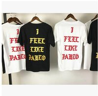 I FEEL LIKE PABLO T- Shirts NEW YORK KANYE pablo Black White ...