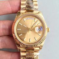 Reloj deportivo de los hombres de la venta caliente 18 K oro Serie DAYDATE Cristal de zafiro 40 MM Oro Dial 2813 acero inoxidable Movimiento automático relojes de los hombres
