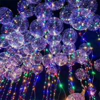 Dreamy vague balle bobo BOBO ballon avec ballon a mené la lumière de couleur pour les enfants de soirée de mariage Halloween Noël à la maison Décorations IB749