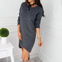 cf0d6f9fa8 New Arrival. Casual O neck long knitted sweater dress Women Bodycon Knitted  Dresses Skinny Party Dress pullover ...
