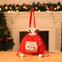 Natale decorazioni calde Natale natale santa bag shopping bag sacchetto di mano borse a mano regalo del pupazzo di neve Nuovo! Vendi renna Design Drop Candy JQFRU