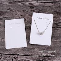 Yeni Ürün 6 * 9 cm / 6 * 8.5 cm Beyaz Renk Küpe / Kolye Kart Büyük Stok Görüntüler Ambalaj Kartları HangTag Can Özel Logo