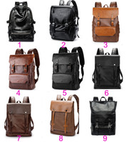 30pcs Newest Fashion designer backpack Men PU Plain Waterpro...