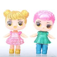 Détail 9cm Poupée LOL avec une bouteille d'alimentation American PVC Kawaii Jouets enfants Anime Action Figurines Reborn Dolls réalistes pour filles T27