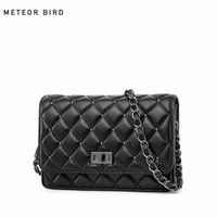 2018 Genuine Leather Handbags New Ladies Lingge Small Square...
