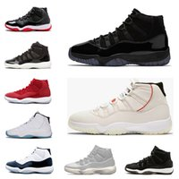 Nuovo 11 11s Platinum Tint Men scarpe da basket designer Cap and Gown Prom Night Gym Red Bred Barons Concord 45 mens sport sneakers