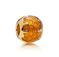 Nueva moda de moda suelta 925 plata esterlina linda honey encanto perla para la pulsera de la cadena de serpiente de bricolaje Epacket libre de la pulsera