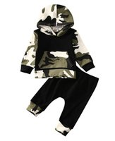 Kleidung-Baby-Kleidung stellt 2020 Baby-Tarnung Camo Hoodie Long Pants 2Pcs Outfits Set Kleidung 2pcs Tops !! Hot Sale Infant