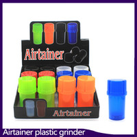 Date Airtainer 2 en 1 Herb Grinder Container Herb Stockage De Tabac Acrylique Bouteille Style cinq couleur 0266214-1