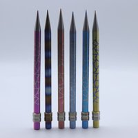 Доставка DHL!!! Новый цвет карандаш GR2 Титана Dabber инструмент для масла и воска сухой травы Domeless Титана ногти стеклянные бонги Dab буровых установок