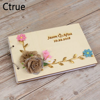 21. 5cmX15cm Personalized Wedding Guest Book guestbook with f...