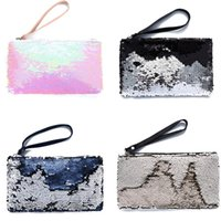100pcs Fashion Glitter Mermaid Sequin Evening Clutch Bag Rev...