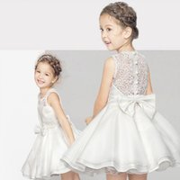 New Spring Girl Lace Ball Gown Sleeveless Princess Party Dre...
