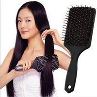 Professional Hair Brush Comb Detangling brush Flat Anti- stat...