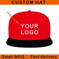 Bajo MOQ borde plano completo cierre 3D bordado camionero deporte personalizado snapback gorra sombrero de béisbol personalizado
