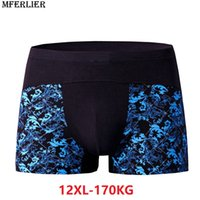 Hombres Boxer print algodón Boxershorts plus tamaño grande 9XL 10XL 11XL 12XL ropa interior de gran tamaño elasticidad suelta Calzoncillos Transpirable