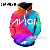 LIASOSO Mode hivernale pour homme / femme Sweat-shirt 3D Imprimer DJ Chanteur Avicii Hip Hop Haut Décontracté Drôle Pull A029-04