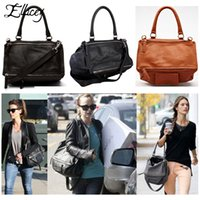 Ellacey 2016 Famous ive Fashion Star Style Design Pandora Bolsos de hombro Messeger Handbag Soft PU Leather Bag Double Style