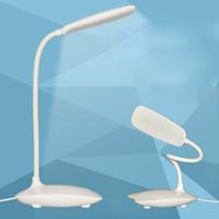 새로운 패션 가변 USB 충전식 LED 데스크 테이블 램프 조명 클립 터치 스위치 학생 램프