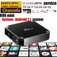x96 mini android 7. 1 OS tv box with EVDTV 2700+ channels ARA...