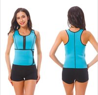Corps Shaper Femmes Minceur Gilet Thermo Thermo Fitness Trainer Néoprène Sauna Gilets Taille ajustable A872