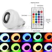 LED 조명 전구 E27 무선 블루투스 화재 전구 음악 재생 스피커 LED RGB 음악 화염 전구 다채로운 디 밍이 가능한 LED RGB 램프
