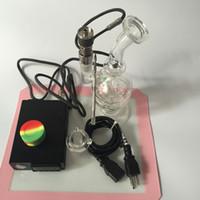 Alta calidad Cera de vapor Dab DAB portátil Rig vaporizador enail aceite Bong kit del regulador de temperatura para la cera Concentrado
