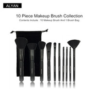 10 piece Beauty tools e. i. f makeup brush set foundation blus...