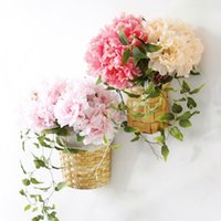 Wholesales 28*11cm Peony Silk Flowers 5 Heads Fake Bridal Bo...