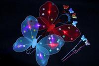 어린이 완구 파티 축하 나비 날개 공주 요정 완드 엔젤 3 피스 실행 요정 마법의 소품 크리스마스 선물