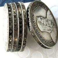 Ein Satz von 1937-1954 5er Schweiz (Konföderation) Silber 5 Francs (5 Franken) Kopieren Coin Durchmesser: 31,45 mm