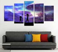 5 panels Rick and Morty Wall Decor Canvas Prints Art Poster ...