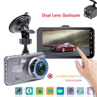 4,0 Zoll Touch-Screen-Auto DVR Blackbox 2Ch Video dashcam volle HD 1080P 170 ° weite Blickwinkel HDR-G-Sensor Parken-Monitor