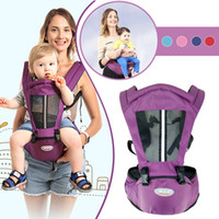 Carrinha de bebê recém-nascido Canguru Criança Sling Envoltório Portátil Infantil Hipseat Bebê Cuidados Cintura Banquinho Ajustável Assento de quadril 0-36 meses