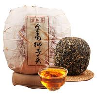 500g Olgun Pu Er Çay Yunnan Dianhong Altın Cents Aslan Başkanı Pu er Çay Organik Pu'er En Eski Ağacı Puer Doğal Siyah Puerh Çay Pişmiş