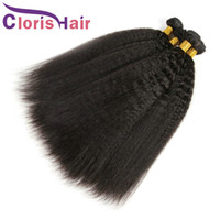 Raw Indian Hair Kinky Straight 3 Bundles 100% Human Hair Ind...