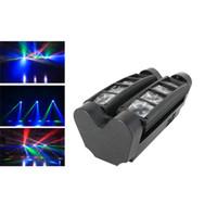 LED8 Eyed Aranha Lâmpada KTV Room, Dance Hall Bar, Controle de Som Stage Lighting, Laser Laser Lâmpada, Lasers Luzes de discoteca