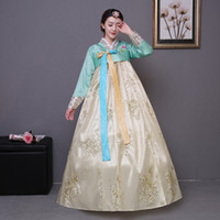 Roupas étnicas 2021 Bordado Coreano Vestido Tradicional Mulheres Hanbok National Traje Fase Performance Costumes