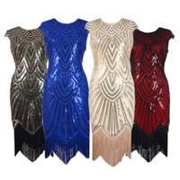 Женские новые четыре сезона юбка бутик взрывы кистями тканые блесток платье Европа и Соединенные Штаты Америки новый ретро фильм платье юбка