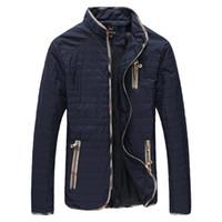 YWSRLM мужская осень зима куртки мода мужская куртка стенд воротник мужской куртка пальто ветрозащитный куртка мужская пальто плюс размер 7XL
