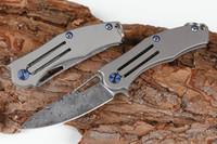 Promosyon EDC Pocket Katlama Bıçak Şam Çelik Bıçak TC4 Titanyum Alaşım Kol Mini Küçük Katlanır Bıçaklar Liner Kilidi